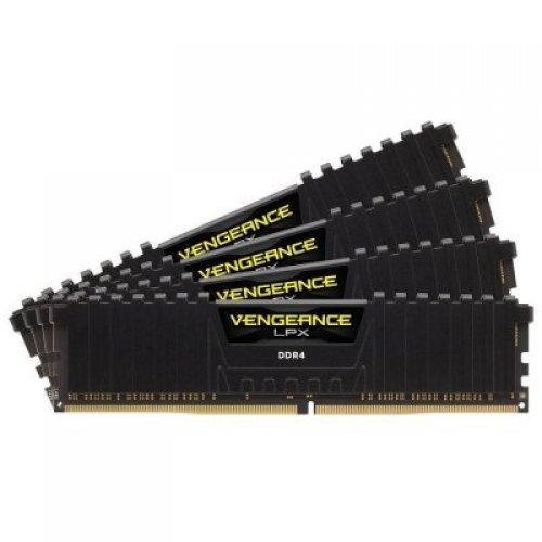 RAM памет DDR4 32GB Kit 4X8GB 3200MHz, CORSAIR Vengeance LPX, PC4-25600, non-ECC Unbuffered, CL16 (16-18-18-36), 288-Pin DIMM, 1.35V (снимка 1)