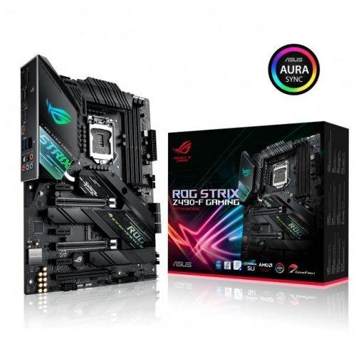 Дънна платка ASUS ROG STRIX Z490-F GAMING socket 1200 Aura Sync (снимка 1)
