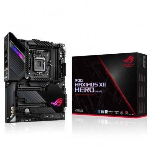 Дънна платка ASUS ROG MAXIMUS XII HERO (WI-FI), LGA1200, Intel Z490, Wi-Fi 6 Aura Sync, 4x DDR4/ 6x SATA3/ RAID/ HDMI/ 3x M.2/ GLAN/ SLI/ 3x PCIe3 x16/ 3x PCIe 3 x1 (снимка 1)