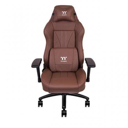 Геймърски стол Тtesports X Comfort, Геймърски стол, Естествена кожа, Кафяв (снимка 1)