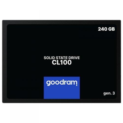 """SSD GOODRAM 240GB CL100 GEN. 3, 2.5"""" 7mm, SATA 6 Gb/s, Read/Write: 520 / 400 MB/s (снимка 1)"""