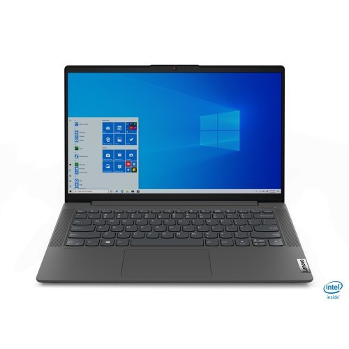 "Лаптоп Lenovo IdeaPad 5, сив, 14.0"" (35.56см.) 1920x1080 (Full HD) без отблясъци IPS, Процесор Intel Core i7-1065G7 (4x/8x), Видео nVidia GeForce MX350/ 2GB DDR5, 16GB DDR4 RAM, 512GB SSD диск, без опт. у-во, FreeDOS ОС, Клавиатура- с БДС (снимка 1)"