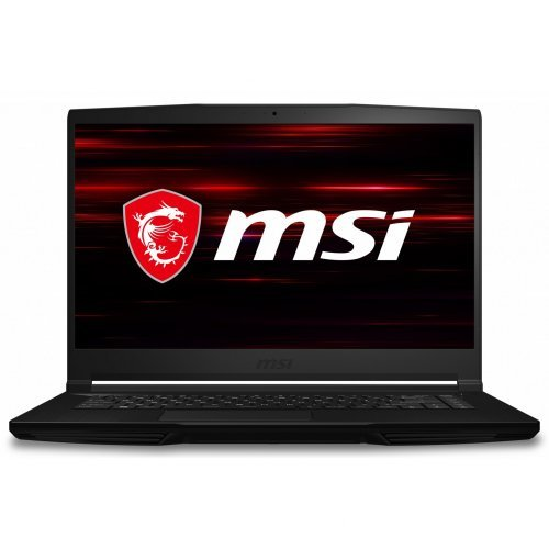 "Лаптоп MSI GF63 Thin 10SCSR-097XBG-BB71075H8GXXDXX, черен, 15.6"" (39.62см.) 1920x1080 (Full HD) 120Hz IPS, Процесор Intel Core i7-10750H (6x/12x), Видео nVidia GeForce GTX 1650 Ti Max-Q/ 4GB GDDR6, 8GB DDR4 RAM, 512GB SSD диск, без опт. у-во, без ОС, Клавиатура- светеща с БДС (снимка 1)"