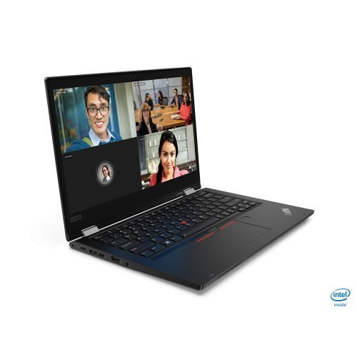 "Лаптоп Lenovo ThinkPad L13 Yoga, черен, 13.3"" (33.78см.) 1920x1080 (Full HD) IPS тъч, Процесор Intel Core i7-10510U (4x/8x), Видео Intel UHD, 8GB DDR4 RAM, 512GB SSD диск, без опт. у-во, Windows 10 Pro 64 ОС, Клавиатура- с БДС (снимка 1)"