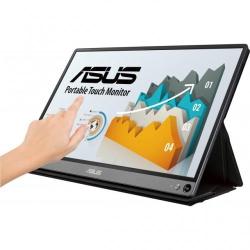 """Монитор ASUS ZenScreen Touch MB16AMT, 15.6"""" FHD (1920x1080) IPS, USB Type-C, Micro HDMI, Battery (снимка 1)"""