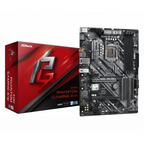 Дънна платка ASROCK Z490 Phantom Gaming 4/AC WI-FI, LGA1200 (снимка 1)