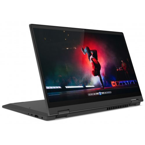"Лаптоп-таблет Lenovo Laptop-Tablet IdeaPad Flex 5 14IIL05, 2 в 1, черен, 14.0"" (35.56см.) 1920x1080 (Full HD) лъскав IPS тъч, Процесор Intel Core i5-1035G1 (4x/8x), Видео Intel UHD, 8GB DDR4 RAM, 512GB SSD диск, без опт. у-во, Windows 10 64 ОС, Клавиатура- светеща с БДС (снимка 1)"