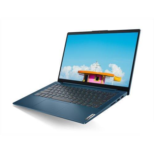 """Лаптоп Lenovo IdeaPad 5 UltraSlim, син, 14.0"""" (35.56см.) 1920x1080 (Full HD) без отблясъци IPS, Процесор Intel Core i5-1035G1 (4x/8x), Видео nVidia GeForce MX350/ 2GB DDR5, 8GB DDR4 RAM, 512GB SSD диск, без опт. у-во, FreeDOS ОС, Клавиатура- с БДС (снимка 1)"""