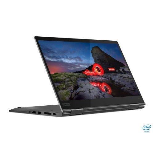 "Лаптоп Lenovo ThinkPad X1 Yoga GEN 5, сив, 14.0"" (35.56см.) 1920x1080 (Full HD) без отблясъци IPS, Процесор Intel Core i7-10510U (4x/8x), Видео интегрирано, 16GB LPDDR3 RAM, 512GB SSD диск, без опт. у-во, Windows 10 Pro 64 ОС, Клавиатура- с БДС (снимка 1)"