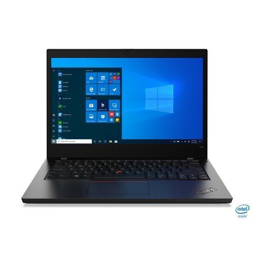 "Лаптоп Lenovo ThinkPad L14, черен, 14.0"" (35.56см.) 1920x1080 (Full HD) без отблясъци IPS, Процесор Intel Core i7-10510U (4x/8x), Видео Intel UHD, 16GB DDR4 RAM, 512GB SSD диск, без опт. у-во, Windows 10 Pro 64 ОС, Клавиатура- с БДС (снимка 1)"