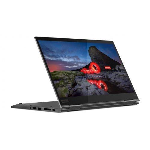 "Лаптоп-таблет Lenovo Laptop-Tablet ThinkPad X1 Yoga 5th Gen, 2 в 1, черен, 14.0"" (35.56см.) 1920x1080 (Full HD) без отблясъци тъч, Процесор Intel Core i5-10210U (4x/8x), Видео Intel UHD, 8GB LPDDR3 RAM, 256GB SSD диск, без опт. у-во, Windows 10 Pro 64 ОС, Клавиатура- светеща с БДС (снимка 1)"