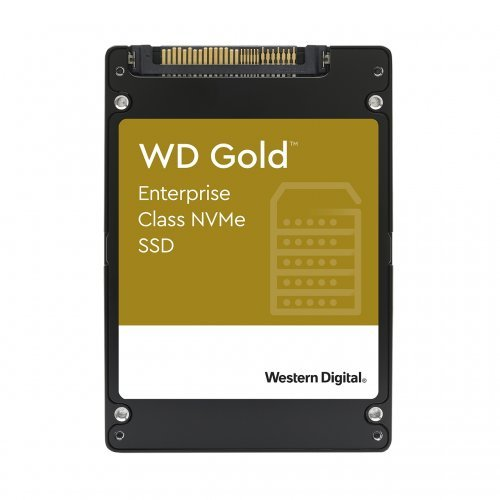"SSD Western Digital 960GB Gold Enterprise Class 2.5"" U.2, PCIe Gen 3.1 x4, NVMe 1.3, read-write: up to 3000/1100 MB/s, Random Read/ Write up to 413K/44K IOPS (5 years warranty) (снимка 1)"