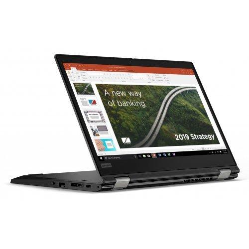"""Лаптоп Lenovo ThinkPad L13 Yoga, 2 в 1, черен, 13.3"""" (33.78см.) 1920x1080 (Full HD) без отблясъци IPS тъч, Процесор Intel Core i5-10210U (4x/8x), Видео Intel UHD, 8GB DDR4 RAM, 256GB SSD диск, без опт. у-во, Windows 10 Pro 64 ОС, Клавиатура- светеща с БДС (снимка 1)"""