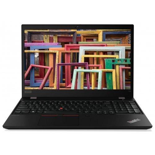 """Лаптоп Lenovo ThinkPad T15, черен, 15.6"""" (39.62см.) 1920x1080 (Full HD) без отблясъци IPS, Процесор Intel Core i5-10210U (4x/8x), Видео Intel UHD, 8GB DDR4 RAM, 512GB SSD диск, без опт. у-во, Windows 10 Pro 64 ОС, Клавиатура- светеща с БДС (снимка 1)"""