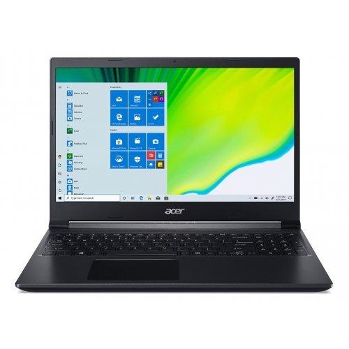 "Лаптоп Acer Aspire 7 A715-41G-R6CB, черен, 15.6"" (39.62см.) 1920x1080 (Full HD) без отблясъци IPS, Процесор AMD Ryzen 5 3550H (4x/8x), Видео nVidia GeForce GTX 1650/ 4GB GDDR6, 8GB DDR4 RAM, 512GB SSD диск, без опт. у-во, без ОС (снимка 1)"