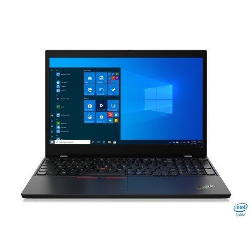 "Лаптоп Lenovo ThinkPad L15, черен, 15.6"" (39.62см.) 1920x1080 (Full HD) без отблясъци IPS, Процесор Intel Core i7-10510U (4x/8x), Видео Intel UHD, 16GB DDR4 RAM, 512GB SSD диск, без опт. у-во, Windows 10 Pro 64 ОС, Клавиатура- с БДС (снимка 1)"