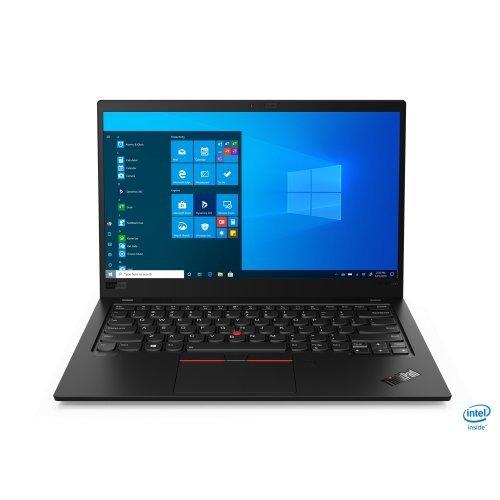 "Лаптоп Lenovo ThinkPad X1 Carbon (8th Gen), черен, 14.0"" (35.56см.) 1920x1080 (Full HD) без отблясъци IPS, Процесор Intel Core i7-10510U (4x/8x), Видео Intel UHD, 16GB LPDDR3 RAM, 1TB SSD диск, без опт. у-во, Windows 10 Pro 64 ОС, Клавиатура- с БДС (снимка 1)"