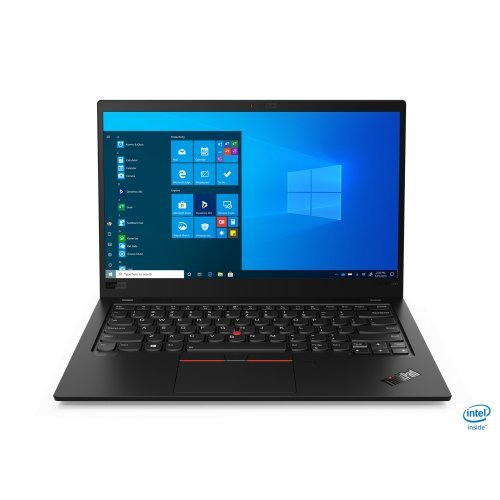"Лаптоп Lenovo ThinkPad X1 Carbon (8th Gen), черен, 14.0"" (35.56см.) 1920x1080 (Full HD) без отблясъци IPS, Процесор Intel Core i5-10210U (4x/8x), Видео Intel UHD, 16GB LPDDR3 RAM, 512GB SSD диск, без опт. у-во, Windows 10 Pro 64 ОС, Клавиатура- с БДС (снимка 1)"
