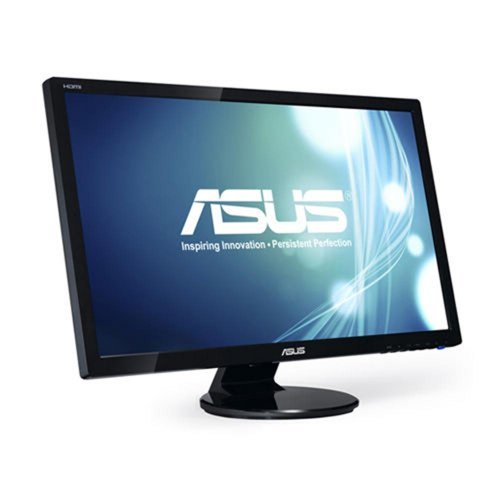 "Монитор Asus 27.0"" Wide VE278H, 1920x1080, 300 cd/㎡, 50000000:1, 170°/160°, 2ms, Speakers : 3W x 2, HDMI x 2, D-Sub, Black (снимка 1)"