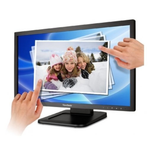 Монитор ViewSonic TD2220-2, LED, 1920x1080, 16:9, 20.000,000:1 DCR, 200 cd/m2, 5ms, 170 / 160, D-Sub, DVI-D (with HDCP), Multi-Touch, Black (снимка 1)