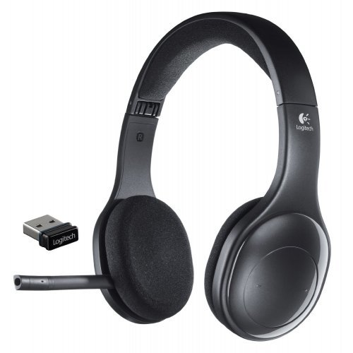 Слушалки Logitech Wireless Headset H800, Bluetooth support, Roam up to 12 m, Laser-tuned drivers and a built-in equalizer, Tiny nano receiver, Noise-canceling microphone, Fold-and-go design, built-in battery (снимка 1)