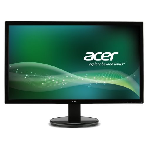 "Монитор Acer 21.5"" Wide K222HQLbd - UM.WW3EE.001, TN LED, 1920x1080 FullHD, 100M:1 DCR, 200 cd/m2, 5ms, D-Sub, DVI-D, Black (снимка 1)"