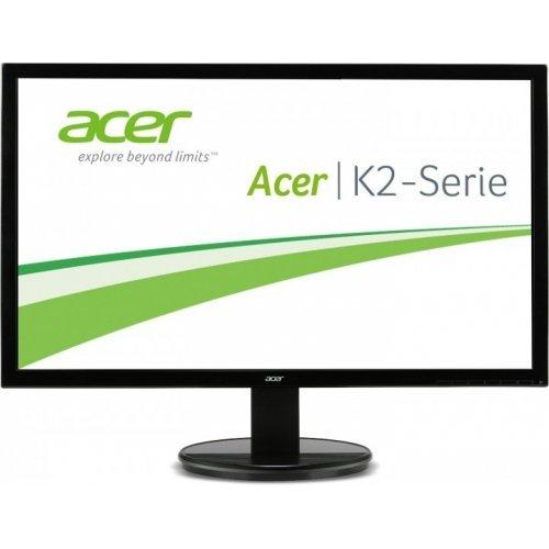 """Монитор Acer 24.0"""" Wide K242HLbd - UM.FW3EE.001, TN LED, 1920x1080 FullHD, 100M:1 DCR, 250 cd/m2, 5ms, 170/160, D-Sub, DVI, Black, Black (снимка 1)"""