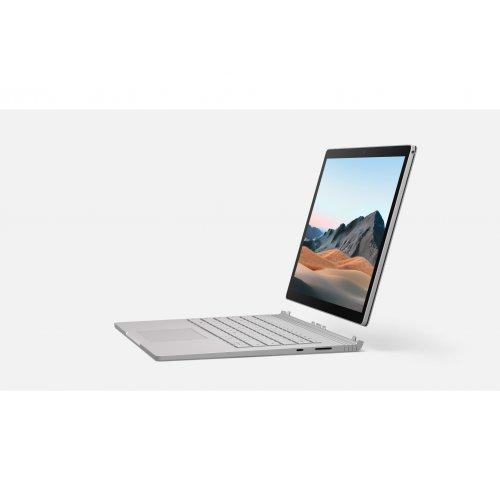"Ултрабук-таблет Microsoft Ultrabook-Tablet Surface Book 3, 2 в 1, сив, 13.5"" (34.29см.) 3000x2000 без отблясъци тъч, Процесор Intel Core i7-1065G7 (4x/8x), Видео nVidia GeForce GTX 1650/ 4GB GDDR5, 16GB DDR4 RAM, 256GB SSD диск, без опт. у-во, Windows 10 ОС (снимка 1)"