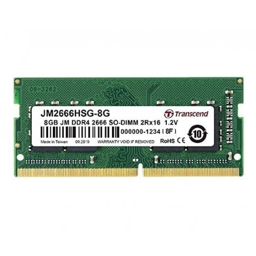RAM памет DDR4 SODIMM 8GB 2666Mhz, Transcend JM, CL19, 1.2V, 1Rx16 1Gx16 (снимка 1)