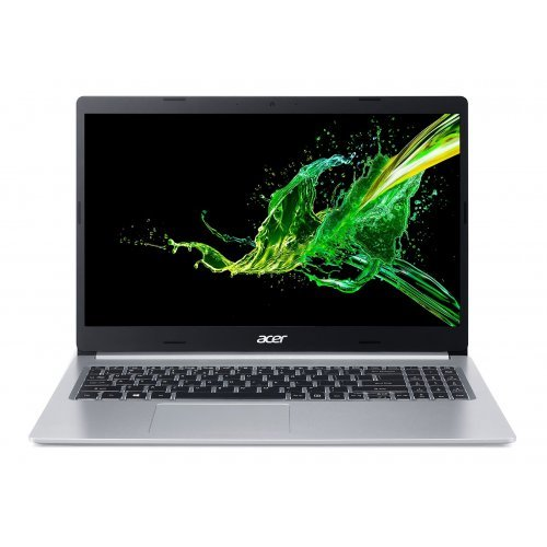 """Лаптоп Acer Aspire 5 A515-54G-57E6, сребрист, 15.6"""" (39.62см.) 1920x1080 (Full HD) без отблясъци 60Hz IPS, Процесор Intel Core i5-10210U (4x/8x), Видео nVidia GeForce MX350/ 2GB GDDR5, 8GB DDR4 RAM, 512GB SSD диск, без опт. у-во, Linux ОС, Клавиатура- с БДС (снимка 1)"""