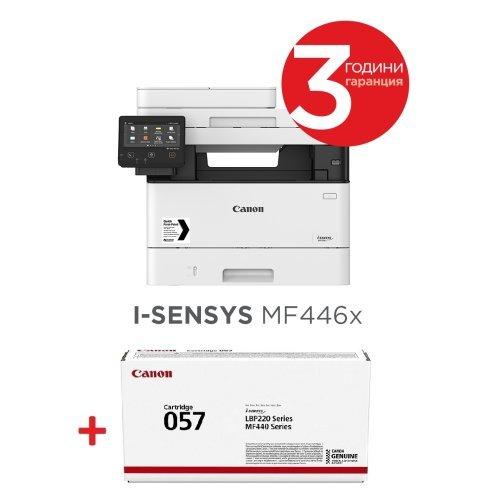 Принтер Canon i-SENSYS MF446x Printer/Scanner/Copier + Canon CRG-057 (снимка 1)