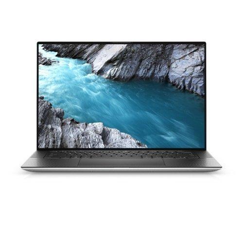 "Лаптоп Dell XPS 15 9500, сребрист и черен отвътре, 15.6"" (39.62см.) 3840x2400 (UHD+) без отблясъци 60Hz тъч, Процесор Intel Core i7-10750H (6x/12x), Видео nVidia GeForce GTX 1650 Ti/ 4GB GDDR6, 16GB DDR4 RAM, 1TB SSD диск, без опт. у-во, Windows 10 Pro 64 English ОС, Клавиатура- светеща (снимка 1)"