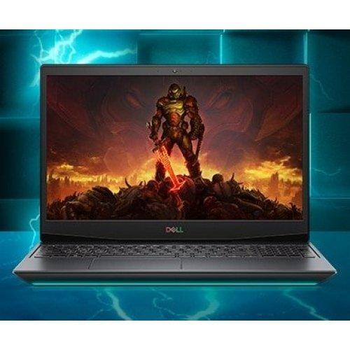 "Лаптоп Dell Inspiron Gaming G5 5500, 15.6"" (39.62см.) 1920x1080 (Full HD) без отблясъци 144Hz WVA, Процесор Intel Core i7-10750H (6x/12x), Видео nVidia GeForce RTX 2070/ 8GB GDDR6, 16GB DDR4 RAM, 1TB SSD диск, без опт. у-во, Windows 10 Pro 64 ОС, Клавиатура- светеща (снимка 1)"