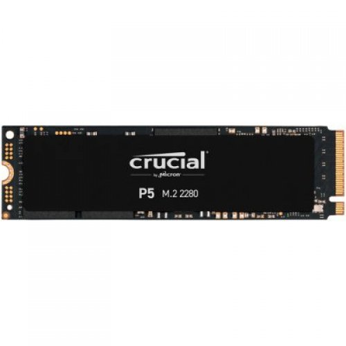 SSD Crucial 1000GB P5 M.2 NVMe PCIEx4 80mm Micron 3D NAND  3400/3000 MB/s, 5yrs, 7mm (снимка 1)