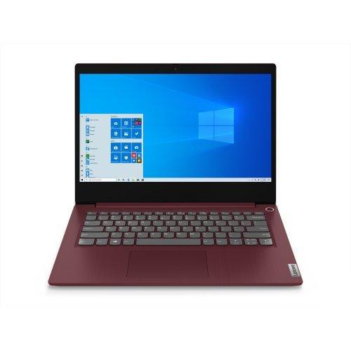 """Лаптоп Lenovo IdeaPad 3, червен, 14.0"""" (35.56см.) 1920x1080 (Full HD) без отблясъци IPS, Процесор Intel Core i3-1005G1 (2x/4x), Видео Intel UHD, 8GB DDR4 RAM, 256GB SSD диск, без опт. у-во, FreeDOS ОС, Клавиатура- с БДС (снимка 1)"""