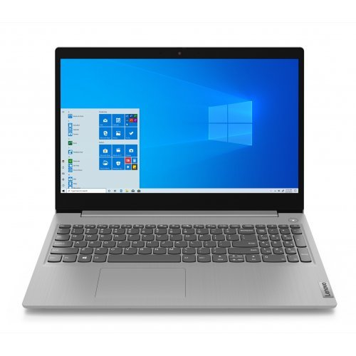 "Лаптоп Lenovo IdeaPad 3, сребрист, 15.6"" (39.62см.) 1920x1080 (Full HD) без отблясъци, Процесор AMD Ryzen 3 3250U (2x/4x), Видео AMD Radeon Graphics, 4GB DDR4 RAM, 256GB SSD диск, без опт. у-во, FreeDOS ОС (снимка 1)"