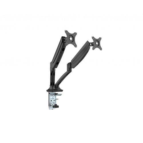 Makki Стойка за два монитора Monitor Mount - GL502  Aluminuim Black - 2 Monitors, Gas Lifters - MA-GL502-BK (снимка 1)