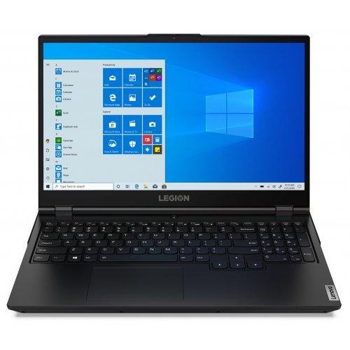 "Лаптоп Lenovo Legion 5 15IMH05, черен, 15.6"" (39.62см.) 1920x1080 (Full HD) без отблясъци 120Hz IPS, Процесор Intel Core i5-10300H (4x/8x), Видео nVidia GeForce GTX 1650/ 4GB GDDR6, 8GB DDR4 RAM, 256GB SSD диск, без опт. у-во, без ОС, Клавиатура- светеща с БДС (снимка 1)"