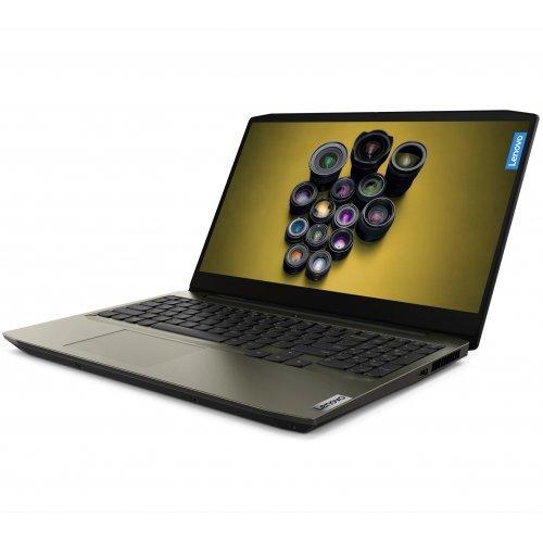 """Лаптоп Lenovo IdeaPad Creator 5, зелен- тъмен мъх, 15.6"""" (39.62см.) 1920x1080 (Full HD) без отблясъци IPS, Процесор Intel Core i5-10300H (4x/8x), Видео nVidia GeForce GTX 1650 Ti, 16GB DDR4 RAM, 512GB SSD диск, без опт. у-во, FreeDOS ОС, Клавиатура- с БДС (снимка 1)"""