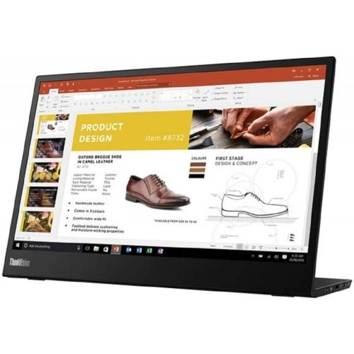 "Монитор Lenovo 14"" ThinkVision M14  (снимка 1)"