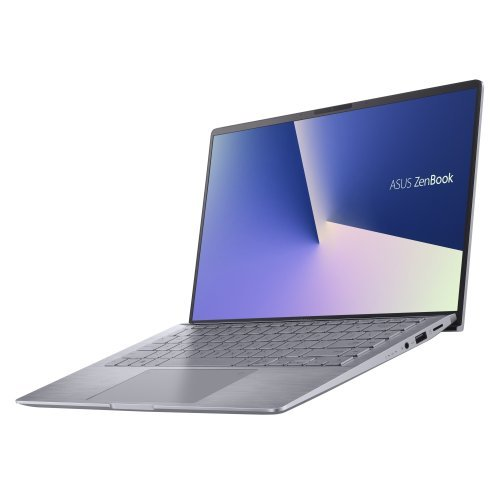 "Лаптоп Asus Zenbook UM433IQ-WB501T, сив, 14.0"" (35.56см.) 1920x1080 (Full HD) без отблясъци 60Hz, Процесор AMD Ryzen 5 4500U (6x/6x), Видео nVidia GeForce MX350/ 2GB GDDR5, 8GB LPDDR4X RAM, 512GB SSD диск, без опт. у-во, Windows 10 64 ОС, Клавиатура- светеща с БДС (снимка 1)"