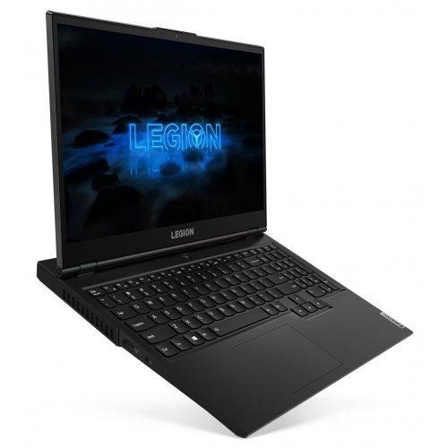 """Лаптоп Lenovo Legion 5 15IMH05, черен, 15.6"""" (39.62см.) 1920x1080 (Full HD) без отблясъци 240Hz IPS, Процесор Intel Core i7-10750H (6x/12x), Видео nVidia GeForce RTX 2080 Super Max-Q/ 8GB GDDR6, 32GB DDR4 RAM, 1TB SSD диск, без опт. у-во, без ОС, Клавиатура- светеща с БДС (снимка 1)"""