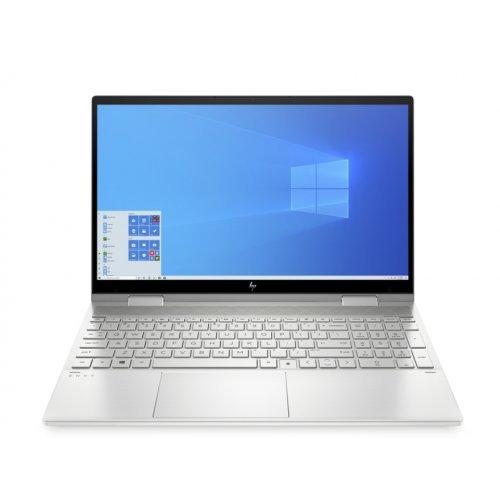 """Лаптоп HP Envy 15-ed0034nn, сребрист, 15.6"""" (39.62см.) 1920x1080 (Full HD) без отблясъци 60Hz IPS, Процесор Intel Core i7-10510U (4x/8x), Видео nVidia GeForce GT MX330/ 4GB GDDR5, 16GB DDR4 RAM, 1TB SSD диск, без опт. у-во, Windows 10 ОС, Клавиатура- светеща (снимка 1)"""