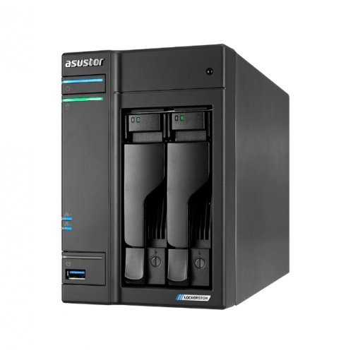 NAS устройство Asustor Lockerstore 2 AS6602T, 2-Bay NAS, Intel Apollo Lake Quad-Core J4125 up to 2.7GHz, 4 GB SO-DIMM DDR4,M.2 Slots (2280 NVMe SSD) x2, GbE x 2, USB 3.2 x 3, HDMI 2.0, WOW (Wake on WAN), WOL, System Sleep Mode, AES-NI hardware encryption (снимка 1)