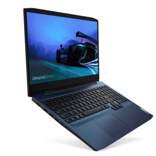 """Лаптоп Lenovo IdeaPad Gaming 3 15IMH05, син, 15.6"""" (39.62см.) 1920x1080 (Full HD) без отблясъци IPS, Процесор Intel Core i7-10750H (6x/12x), Видео nVidia GeForce GTX 1650/ 4GB GDDR5, 8GB DDR4 RAM, 512GB SSD диск, без опт. у-во, без ОС, Клавиатура- светеща с БДС (снимка 1)"""
