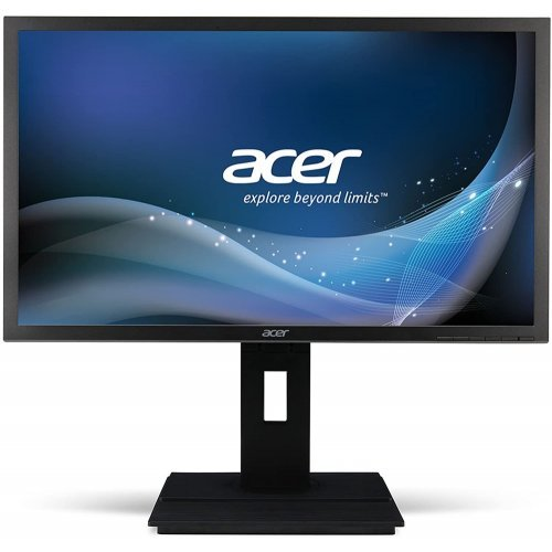 "Монитор Acer 23.8"" B246HYLAymidr,  IPS LED, 5ms, 100M:1DCR, 250cd/m2, 1920x1080 FullHD, VGA, DVI, HDMI, Speakers, Height Adj., Pivot, VESA, Tilt, TCO7.0, Darkgrey, Acer EcoDisplay, 3Y (снимка 1)"