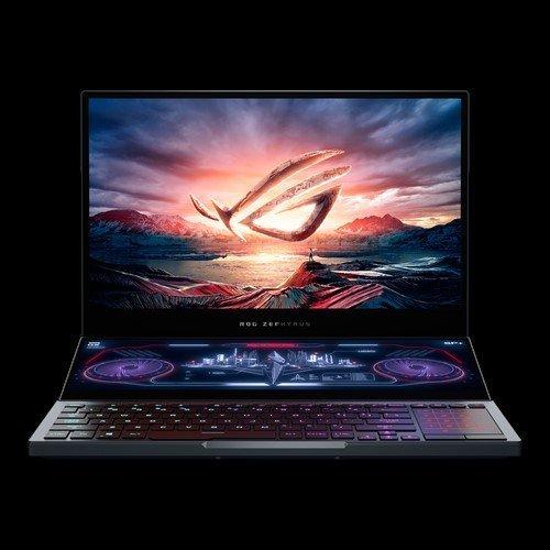 """Лаптоп Asus ROG Zephyrus Duo15 GX550LWS-HF046T, сив, 15.6"""" (39.62см.) 1920x1080 (Full HD) без отблясъци 300Hz IPS, Процесор Intel Core i7-10875H (8x/16x), Видео nVidia GeForce RTX 2070 Super Max-Q/ 8GB GDDR6, 16GB DDR4 RAM, 1TB SSD диск, без опт. у-во, Windows 10 ОС, Клавиатура- светеща (снимка 1)"""