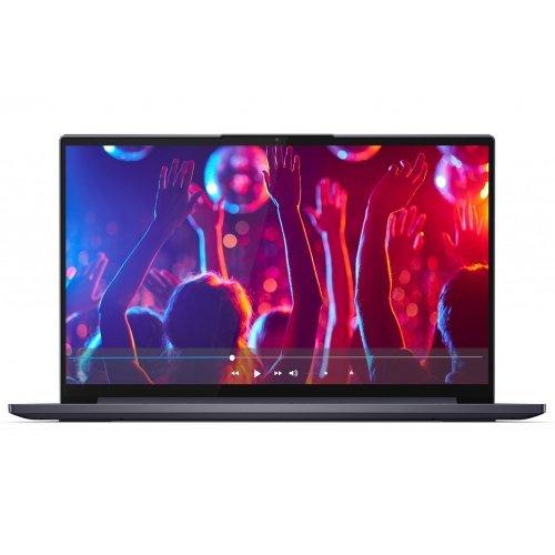 """Лаптоп Lenovo Yoga Slim 7 15IIL05, черен, 15.6"""" (39.62см.) 1920x1080 (Full HD) без отблясъци IPS, Процесор Intel Core i5-1035G1 (4x/8x), Видео nVidia GeForce MX350/ 2GB GDDR5, 8GB LPDDR4X RAM, 512GB SSD диск, без опт. у-во, Windows 10 64 ОС, Клавиатура- светеща с БДС (снимка 1)"""