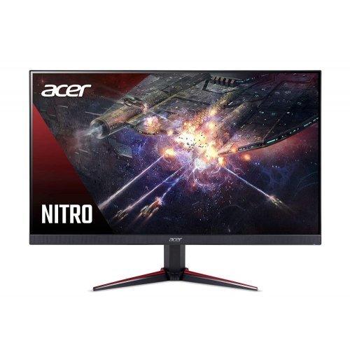 Монитор Acer Nitro VG240YSbmiipx, 23.8'' IPS LED, Anti-Glare, FreeSync, ZeroFrame, 2ms/0.5ms(Min.), 100M:1, 250 cd/m2, 1920x1080 FHD, 165Hz, 2xHDMI, DP, Speakers 2x2W, Tilt, Black (снимка 1)