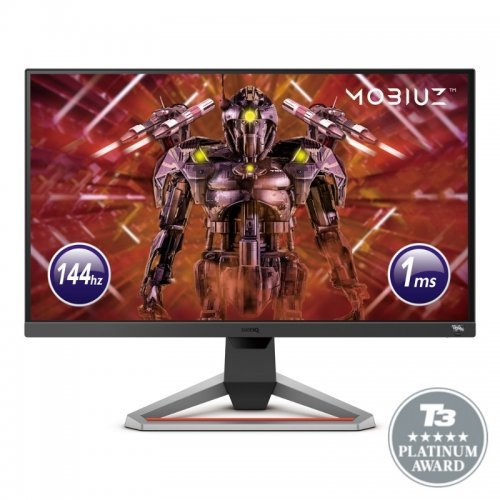 "Монитор BenQ MOBIUZ EX2710, 27"", IPS, HDRi, 144Hz, 1ms, 1920x1080 FHD, FreeSync Premium, 99% sRGB, HDR10, B.I.+, Light Tuner, Black eQualizer, Color Vibrance, Quick OSD, Eye-Care, treVolo Speakers 2.5Wx2, 1000:1, 400 cd/m2,HDMI x2, DP, Height Adj., Dark grey (снимка 1)"